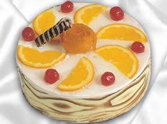 lezzetli pasta satisi 4 ile 6 kisilik yas pasta portakalli pasta  Ordu ucuz çiçek gönder