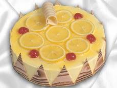 taze pastaci 4 ile 6 kisilik yas pasta limonlu yaspasta  Ordu internetten çiçek siparişi