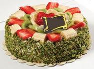 pasta gönder  4 ile 6 kisilik karisik meyvali yas pasta  Ordu internetten çiçek satışı