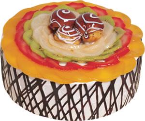 pasta siparisi 4 ile 6 kisilik meyvali yas pasta  Ordu çiçek gönderme