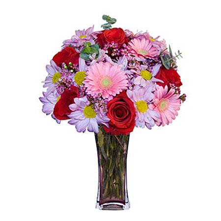 Görsel hediye karisik cam mevsim demeti  Ordu ucuz çiçek gönder