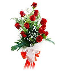 11 adet kirmizi güllerden görsel sölen buket  Ordu çiçekçiler