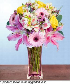 Anneme hediye karisik cam mevsim demeti  Ordu internetten çiçek satışı