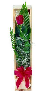 1 adet kutuda kirmizi gül  Ordu çiçek yolla , çiçek gönder , çiçekçi