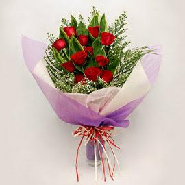 çiçekçi dükkanindan 11 adet gül buket  Ordu ucuz çiçek gönder