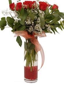 Ordu cicek , cicekci  11 adet kirmizi gül vazo çiçegi