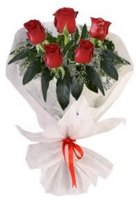 5 adet kirmizi gül buketi  Ordu çiçek siparişi sitesi