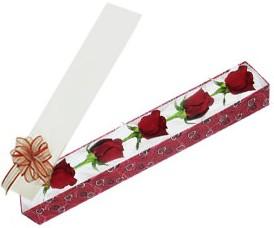Ordu çiçekçi mağazası  kutu içerisinde 5 adet kirmizi gül
