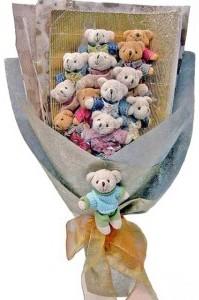 12 adet ayiciktan buket tanzimi  Ordu çiçek siparişi vermek