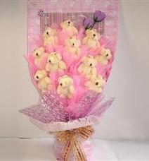 11 adet pelus ayicik buketi  Ordu İnternetten çiçek siparişi