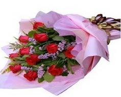 11 adet kirmizi güllerden görsel buket  Ordu çiçek yolla , çiçek gönder , çiçekçi