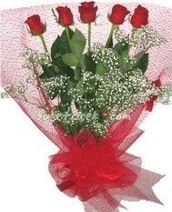 5 adet kirmizi gülden buket tanzimi  Ordu İnternetten çiçek siparişi