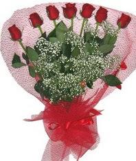 7 adet kipkirmizi gülden görsel buket  Ordu çiçek online çiçek siparişi