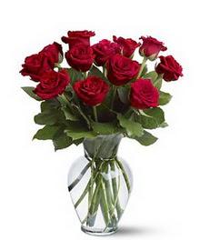 Ordu çiçek yolla , çiçek gönder , çiçekçi   cam yada mika vazoda 10 kirmizi gül
