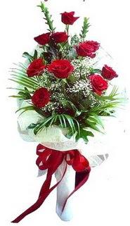 Ordu çiçek satışı  10 adet kirmizi gül buketi demeti