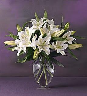 Ordu online çiçekçi , çiçek siparişi  4 dal cazablanca vazo çiçeği