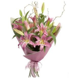 Ordu online çiçekçi , çiçek siparişi  3 dal cazablanca buket çiçeği