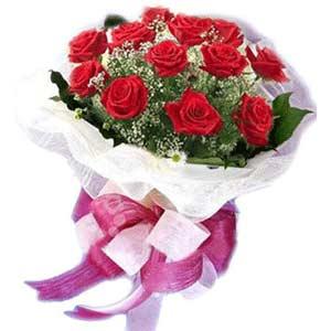 Ordu çiçek gönderme  11 adet kırmızı güllerden buket modeli