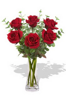 Ordu ucuz çiçek gönder  6 kırmızı gül vazosu