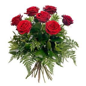 Ordu internetten çiçek siparişi  7 adet kırmızı gülden buket