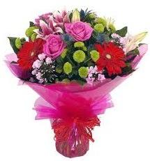 Karışık mevsim çiçekleri demeti  Ordu internetten çiçek siparişi