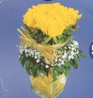 Ordu uluslararası çiçek gönderme  Cam vazoda 9 Sari gül