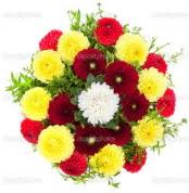 Ordu ucuz çiçek gönder  13 adet mevsim çiçeğinden görsel buket