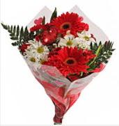 Mevsim çiçeklerinden görsel buket  Ordu çiçek siparişi sitesi