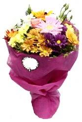 1 demet karışık görsel buket  Ordu uluslararası çiçek gönderme
