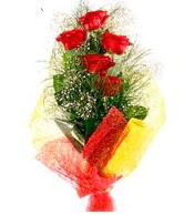 5 li kırmızı gül buketi  Ordu çiçekçi mağazası