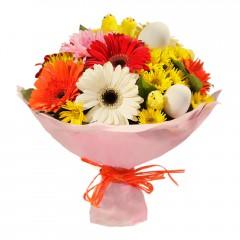 Karışık mevsim buketi Mevsimsel çiçek  Ordu internetten çiçek satışı