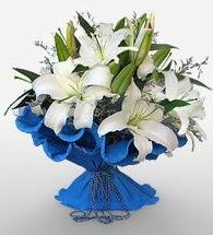 4 dal kazablanka çiçeğinden buket  Ordu çiçek siparişi vermek