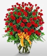 Görsel vazo içerisinde 101 adet gül  Ordu çiçek siparişi vermek