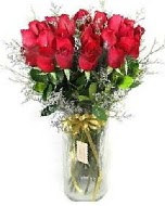 27 adet vazo içerisinde kırmızı gül  Ordu online çiçekçi , çiçek siparişi