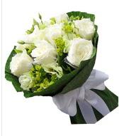 9 adet beyaz gül buketi  Ordu hediye çiçek yolla