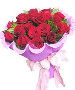 12 adet kırmızı gülden görsel buket  Ordu ucuz çiçek gönder