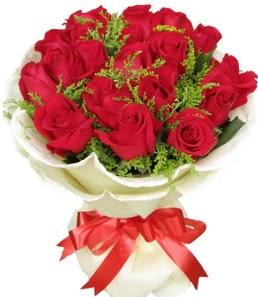 19 adet kırmızı gülden buket tanzimi  Ordu hediye sevgilime hediye çiçek