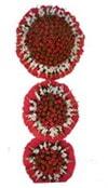 Ordu çiçek online çiçek siparişi  3 katli Beyaz glayöllerden sepet