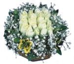 Ordu çiçek siparişi sitesi  Beyaz harika bir gül sepeti