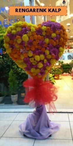 Ankara mevsim çiçeklerinden kalp perförje  Ordu çiçek yolla