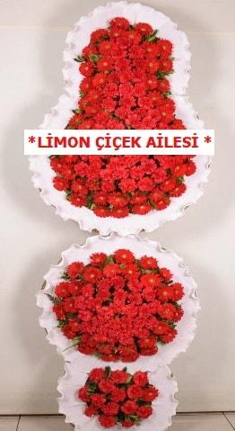 3 katlı kırmızı düğün açılış çiçeği  Ordu çiçek gönderme sitemiz güvenlidir