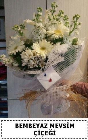 Bembeyaz görsel mevsim çiçek buketi  Ordu İnternetten çiçek siparişi