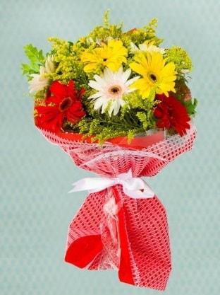 Karışık Gelbera Buketi  Ordu hediye çiçek yolla