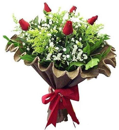 5 adet gülden buket  Ordu çiçek yolla , çiçek gönder , çiçekçi
