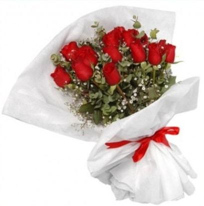 9 adet kırmızı gül buketi  Ordu ucuz çiçek gönder