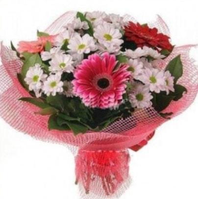Gerbera ve kır çiçekleri buketi  Ordu internetten çiçek satışı
