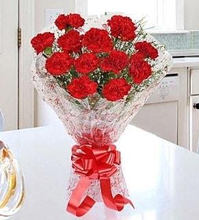 12 adet kırmızı karanfil buketi  Ordu online çiçekçi , çiçek siparişi