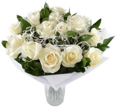 15 beyaz gül buketi sade aşk  Ordu çiçek gönderme