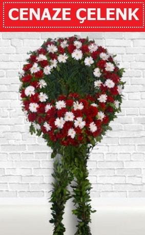 Kırmızı Beyaz Çelenk Cenaze çiçeği  Ordu online çiçekçi , çiçek siparişi