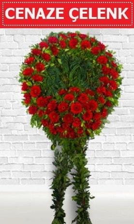 Kırmızı Çelenk Cenaze çiçeği  Ordu online çiçekçi , çiçek siparişi